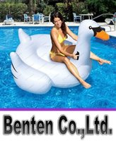 Wholesale 1 M Giant Swan Inflatable Flamingo Float New Swan Inflatable Floats Swimming Ring Raft swimming pool toys For Kids And Adult LLFA