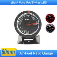 Wholesale Air Fuel Ratio DEF Style Gauge mm Balck Face CR Advance air fuel Auto Gauge Car Meter White Red LED Air Ratio Fuel Gauges