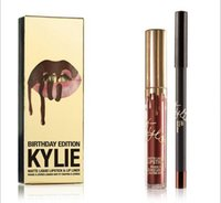 Wholesale 2016 NEW Kylie Jenner Matte Liquid Lipstick LEO Birthday Limited Edition Lip Gloss Makeup Lipstick