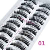 Wholesale False Eyelashes Pack Pairs Pack Beauty Handmade Thick Black False Eyelashes Makeup Cosmetic False Eye Lashes Eyelashes Y