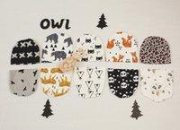 Wholesale DHL EMS Style Kids INS Cotton Hats Children Fashion Cartoon Caps INS Batman Fox Beanies Panda Tiger Hats Winter Cute Baby Caps K7145