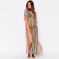 Wholesale Womens Print Chiffon Beachwear poncho sarong scarfs cover beach sarongs Unique