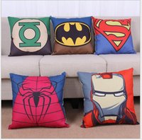 Wholesale Movie Superman patterned cushion thick cotton pillow cover Art