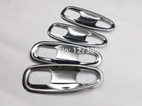 Wholesale ABS Chrome Door Handle Bowl for Toyota Land Cruiser Prado J150 Exterior Door Handle Cup Trim Protector Car Accessories