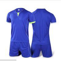 Wholesale soccer jersey iceland soccer Football jerseys new summer paintless football jerseys spaines Jersey sets Sports Kits Football Boy Suit