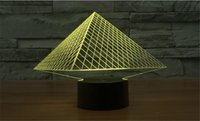 atmosphere party - Colorful D Pyramid Optical Illusion Lamp USB Acrylic Stereoscopic Design Light Gradient Novelty Atmosphere Night Light Pros Gift