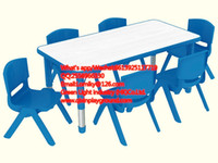 Wholesale Preschool Furniture Used Plastic Tables and Chairs for Kids QX D