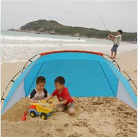 Wholesale Outdoor summer camping tent gazebo beach tent sun shelter UV protection sun shade awning fishing tent inflatable tent