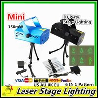Wholesale Mini Laser Stage lighting Led150mW Mini Green Red Laser DJ Party LED Laser Stage Lighting Disco Dance Christmas Lights