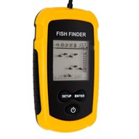 Wholesale fish finder Portable Sonar Wired LCD Fish depth Finder Alarm M AP Electronic fishing tackle