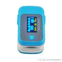 Wholesale HOT HOT OLED Display Fingertip Pulse Oximeter with Audio Alarm Pulse Sound BLUE Spo2 Monitor