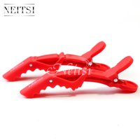 Red best clips hair salon - Best Selling New Red Matte Sectioning Clips Clamps Hairdressing Salon Hair Grip Crocodile Hair Clips in Extensions Hair Clip for Salon