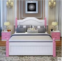 Wholesale Contracted and contemporary adult single european style solid wood With Soft mattress and the storage function