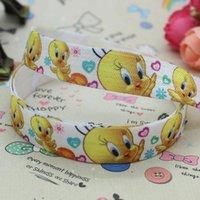 baby tweety - 5 quot mm Happy Bird Tweety Fold Over Elastic FOE Printed Ribbon DIY Hair Baby Craft Decorations Yards A2 F