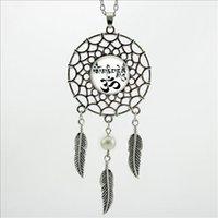 animal symbols buddhism - 2016 Trendy Style Buddhism Zen Necklace Om Symbol Jewelry Yoga Dream Pendant Silver Dreamcatcher Necklace DC