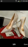 Wholesale Star silver sequins pointed high heeled shoes stars shoes thin shallow mouth women s shoes with leather shoes