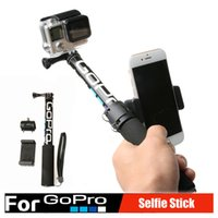 Wholesale Gopro Accessories Self Selfie Stick Handheld Extendable Pole Monopod Tripod Phone Holder Adapter for Go Pro HERO xiaomi yi