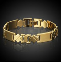 Wholesale New Hot Men s Gold Plated Bracelet Bangle Magnetic Health Chain Mens Charm Jewelry For Men HQ