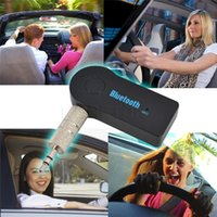 Wholesale Hot Sell Mini Bluetooth Car Kit Hands free Wireless Bluetooth V3 Stereo Audio Music Receiver Adapter Mic Universal for Car Home Audio