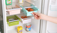 bathroom wall shelf - 4 Plastic Kitchen Refrigerator Storage Rack Fridge Freezer Shelf Holder Pull Out Drawer Organiser Space Saver jy811