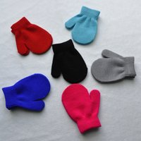 baby mittens - Baby Knitting Warm Soft Gloves Kids Boys Girls Candy Colors Mittens Unisex