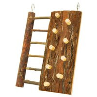 Wholesale Natural Wooden Rock Climbing Ladder Wooden Climbing Wall for Dwarf Hamster Mouse and Other Small Animals