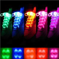 Cheap LED Flashing shoe laces Fiber Optic Shoelace Luminous Shoe Laces Light Up Shoes lace LED Shoelaces Shoe Laces Flash Light Up Glow Stick