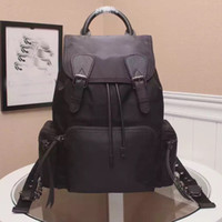 Wholesale NEW The Black latest The Rucksack leather top handle adjustable canvas chain shoulder strap buckle and fight Drawstring Backpack and