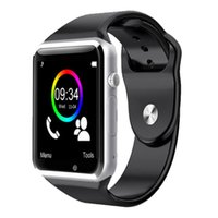 Wholesale Newest A1 Smart Watch Bluetooth Smartwatch Phone Support SIM TF Card Smart Watches With Silicone Strap Smartphone VS GT08 DZ09 U8