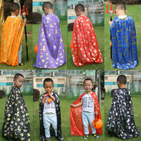 Wholesale 80cm Kids Halloween Costume Cosplay Witch Wizard Capes For Boys Girls Children Cloaks Drop Shipping WS0050
