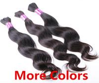 Wholesale 5A Grade g Body Wavy Black Brown Blonde Mixed Piano Ombre Colors Hair Bulk Hair Braid TOP Human Hair Extensions