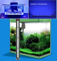 Aquarium Fish Tank LED Light Blue 30/40/50 / 60CM Bar Submersible clip étanche Lampe Decor Dimmable UE Plug