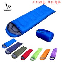 Wholesale Camcel ultra single rectangular sleeping bag with cap outdoors camping activies with seven different colors man and female