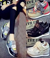 Wholesale 2016 Fashion Newest ASH Women s Suede Leather Sneakers Genuine Leather Buckle Low Top Trainers Casual Lace Up ASH Shoes Size