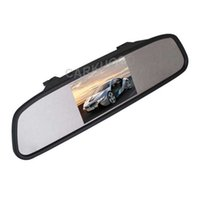 Wholesale Car Roof Lcd Screen - Color TFT LCD Car Rearview Mirror Monitor 4.3 Inch Screen Car Monitor For Cars Fit For Rear View Camera Reverse Camera DVD