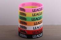 Wholesale 500 BPA Free styles League of Legends wristband LOL bracelet LOL cuff League of Legends accessories LOL Jelly Glow bracelet
