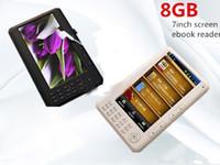 al por mayor reader book-Envío libre Qinkar 7 pulgadas lector de libros electrónicos de pantalla 8GB PDF libro electrónico mp5 grabación de vídeo ranura para tarjeta TF Calendario ereader de multi-idioma