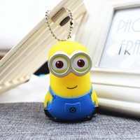 big animals photos - Creative cartoon cute couple big white key chain small yellow man bag Pendant