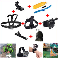 Wholesale Gopro Hero Accessories Set Helmet Harness Chest Belt Head Mount Strap Go pro hero3 Hero4 Sj4000 Black Edition
