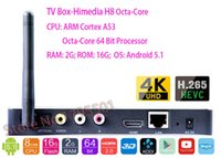 Precio de Caja de himedia-2015 HIMEDIA H8 Octa-Core chips Android TV Box, 2 GB de RAM 16 GB de ROM, Home Network TV, Reproductor de 3D 4K UHD Set-Top Box + Free pluma de la aguja