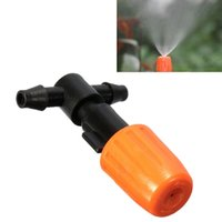 Wholesale Newest Agricultural Garden Plastic Mist Nozzle Orange Flower Misting Atomizing Sprinkler Nozzles Tee Sprayer Greenhouse