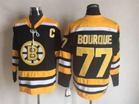 away logo - Boston Bruins s Throwback Away Jersey Mens Ray Bourque Black CCM Vintage Ice Hockey Jersey Stitched Name Number and Logos