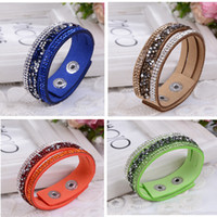 Cheap Leather Bracelet Crystal Wrap Bracelets For Women Multilayer Long Bracelets& Bangles Ladies Braclet Fashion Jewelry