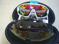 al por mayor bicicleta gafas de sol mujer-16 colores moda gafas de sol con 4 lente marca polarizada gafas de sol Jawbreaker para hombres mujeres deporte ciclismo gafas de sol para hombre corriendo