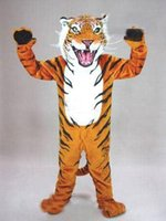bengal cotton - Hot sale professional custom bengal tiger cat mascot head costume suit halloween EMS