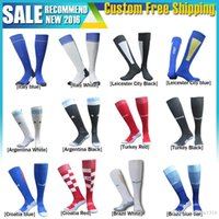 Wholesale 16 soccer socks Spain Germany Ireland Leicester City Brazil Turkey and Colombia Sweden Movement Argentina soccer socks sport sock men