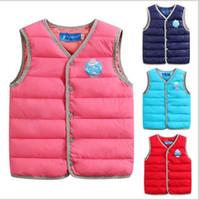 Wholesale New winter children cotton vest boys girls warm vest treasure light tank kinds of color