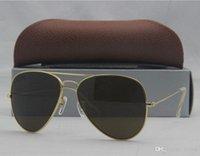 achat en gros de lunettes de soleil en métal-Lunettes de soleil Pilot Vintage Shine G15 Lunettes de soleil Metal Retro Lunettes de soleil Mode 18COLORS