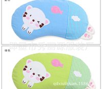 Wholesale Children s buckwheat shell pillow Baby cotton cartoon pillow Baby against migraine and finalize the design pillow pillow the moon
