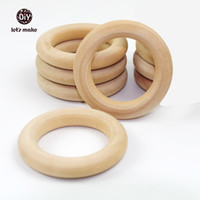 Cheap 50pc lot Wood Rings, Round - 1.6 inch Small Unfinished Wooden Rings for DIY- Natural Wood Toss Ring free shipping